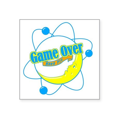 "Big Bang Theory (Game Over) Square Sticker 3"" x 3"""