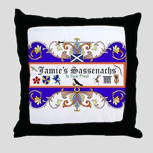 Jamie's Sassenach  Throw Pillow