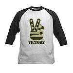 Victory Sign Kids Baseball Jersey