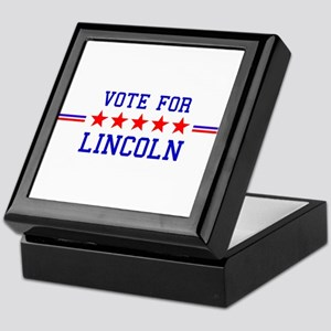 Vote for Lincoln Keepsake Box