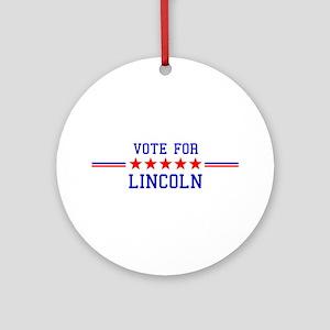Vote for Lincoln Ornament (Round)