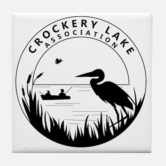CLA black logo Tile Coaster