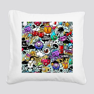 Cool Graffiti Square Canvas Pillow