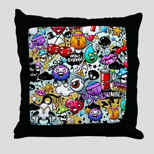 Cool Graffiti Throw Pillow