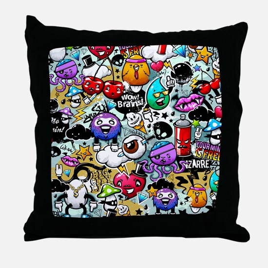 Cool Graffiti Throw Pillow