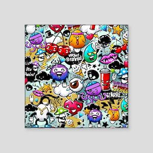 "Cool Graffiti Square Sticker 3"" x 3"""