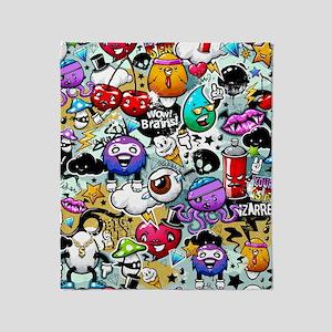 Cool Graffiti Throw Blanket