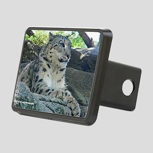 Snow Leopard Rectangular Hitch Cover