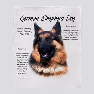 Longhair GSD Throw Blanket