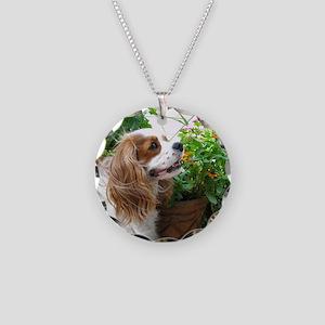 Dexter Flowers Necklace Circle Charm