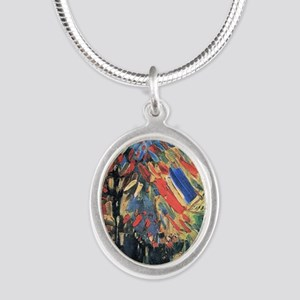 Vincent Van Gogh 14 July In P Silver Oval Necklace