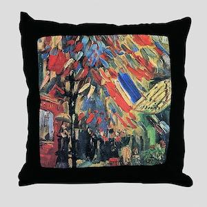 Vincent Van Gogh 14 July In Paris Throw Pillow