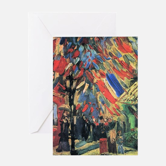 Vincent Van Gogh 14 July In Paris Greeting Card