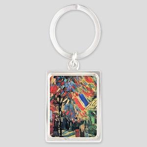 Vincent Van Gogh 14 July In Pari Portrait Keychain