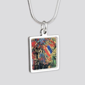 Vincent Van Gogh 14 July I Silver Square Necklace