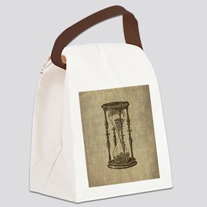 Vintage Hourglass Canvas Lunch Bag