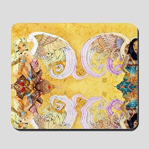 Two Angels - Sun  Moon Mousepad