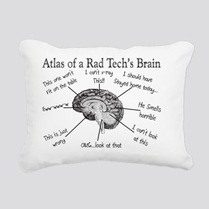 Atlas of a Rad techs bra Rectangular Canvas Pillow