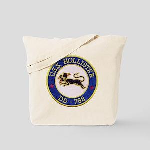 uss hollister patch transparent Tote Bag