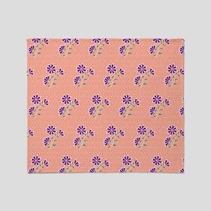Queen Tula Floral Batik Throw Blanket