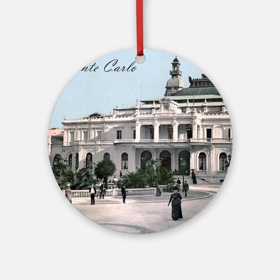 Vintage Monte Carlo Casino Round Ornament