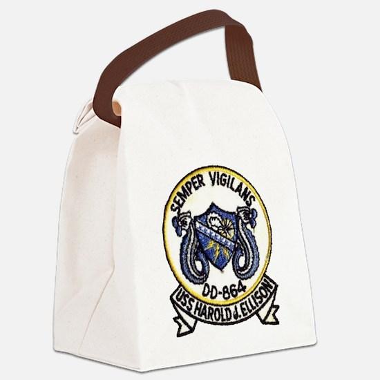 uss harold j. ellison patch trans Canvas Lunch Bag