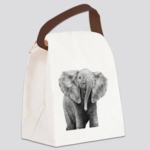 Baby African Elephant Power Bank Canvas Lunch Bag