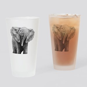 Baby African Elephant Power Bank Drinking Glass