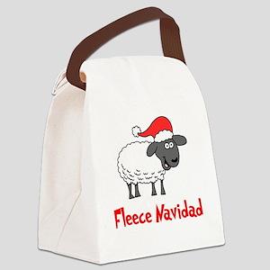 Fleece Navidad Canvas Lunch Bag