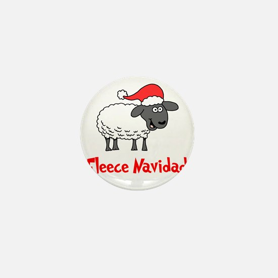 Fleece Navidad Mini Button