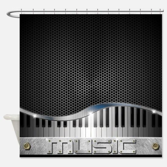 Modern Music Shower Curtain