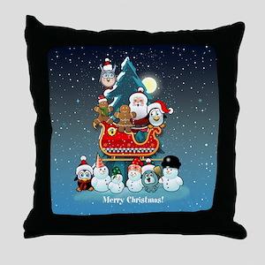 Santas Xmas Party Throw Pillow