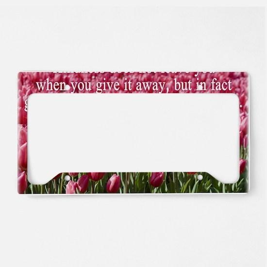 kindness License Plate Holder