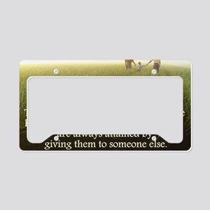 Giving License Plate Holder