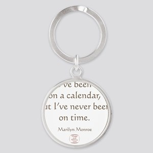 IVE NEVER BEEN ON TIME Round Keychain