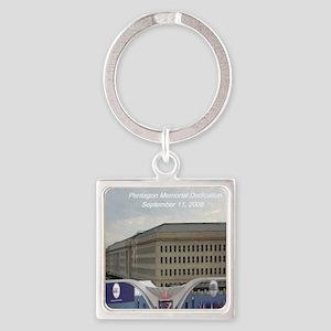 Pentagon Memorial Dedication Square Keychain