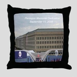 Pentagon Memorial Dedication Throw Pillow