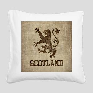 Vintage Scotland Square Canvas Pillow