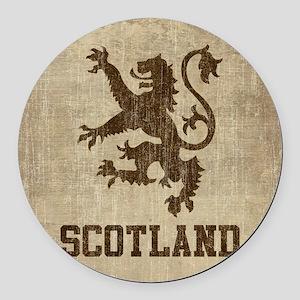 Vintage Scotland Round Car Magnet