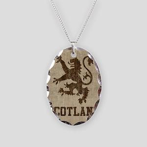 Vintage Scotland Necklace Oval Charm