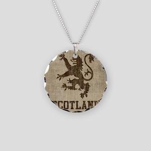 Vintage Scotland Necklace Circle Charm