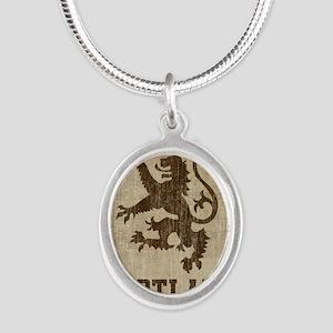 Vintage Scotland Silver Oval Necklace