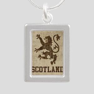 Vintage Scotland Silver Portrait Necklace