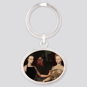 Gabrielle and her Sister Oval Keychain