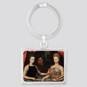 Gabrielle and her Sister Landscape Keychain