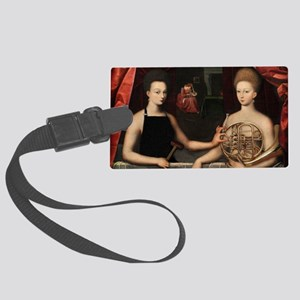 Gabrielle and her Sister Large Luggage Tag