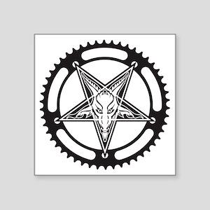 "Pentagram Chainring Square Sticker 3"" x 3"""