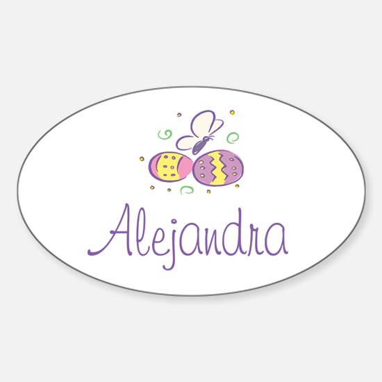 Easter Eggs - Alejandra Oval Decal