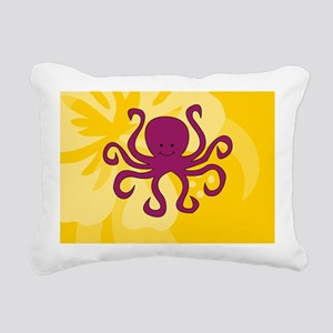 Octopus Coin Purse Rectangular Canvas Pillow