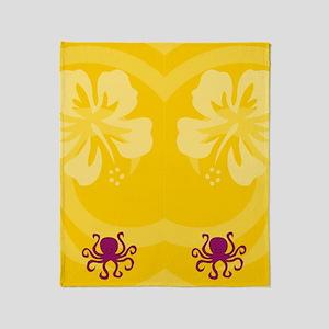 Octopus Flip Flops Throw Blanket